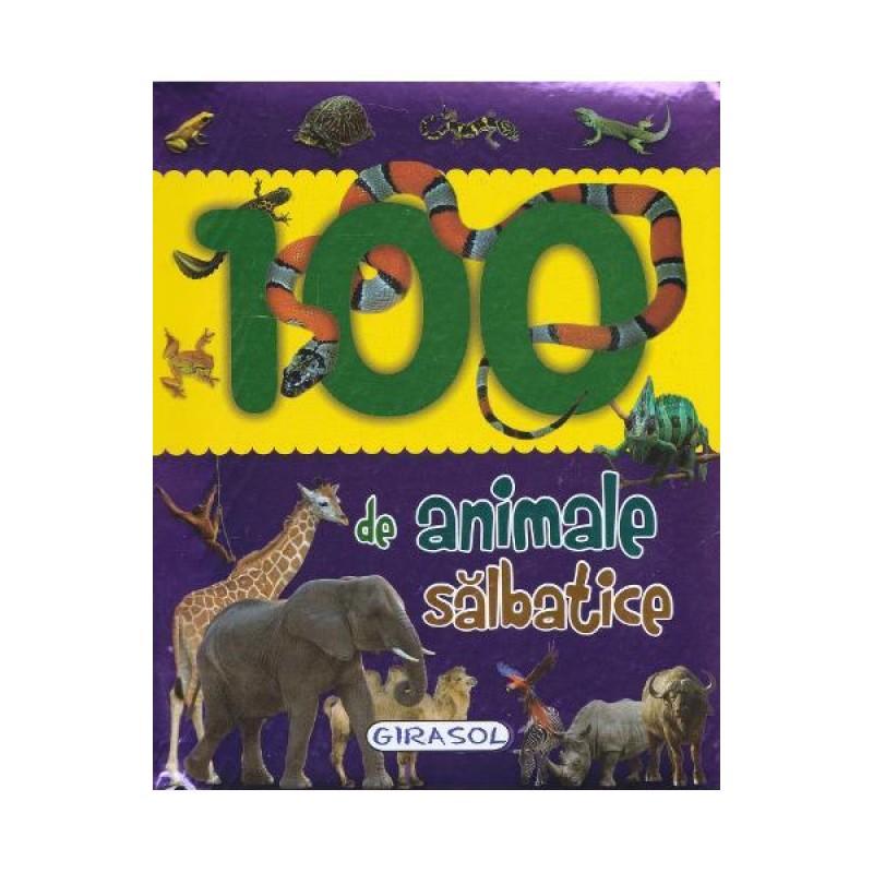Carte pentru copii 100 de animale salbatice, 26 paginia, 1 an+ 2021 shopu.ro