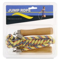 Coarda pentru sarituri Jump Rope, manere lemn