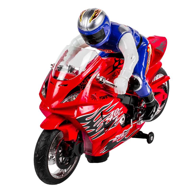 Motocicleta cu pilot Bump & Go, sunet si lumina
