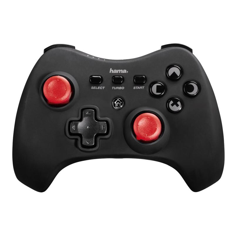 Controller wireless Vendeta PS3 Hama, Negru/Rosu