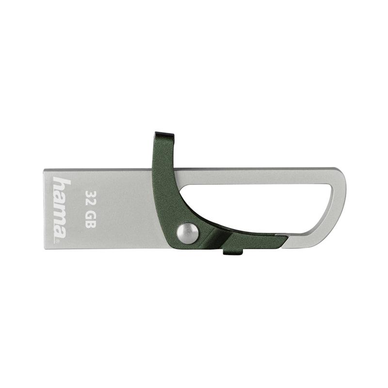Stick Hook-Style Hama, 32 GB, USB 2.0, Verde
