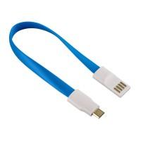 Cablu date/incarcare magnet Hama, USB-micro USB, Albastru