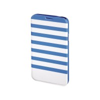 Husa Booklet Stripes Samsung Galaxy S5 Hama, Albastru/Alb