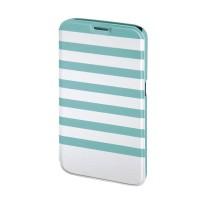 Husa Booklet Stripes Samsung Galaxy S6 Hama, Verde/Alb