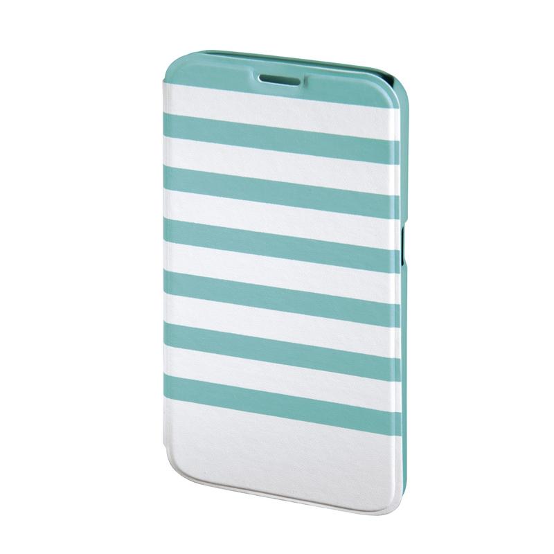 Husa Booklet Stripes Samsung Galaxy S6 Hama, Verde/Alb 2021 shopu.ro