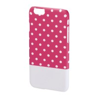 Carcasa Lovely Dots iPhone 6 Hama, Roz/Alb