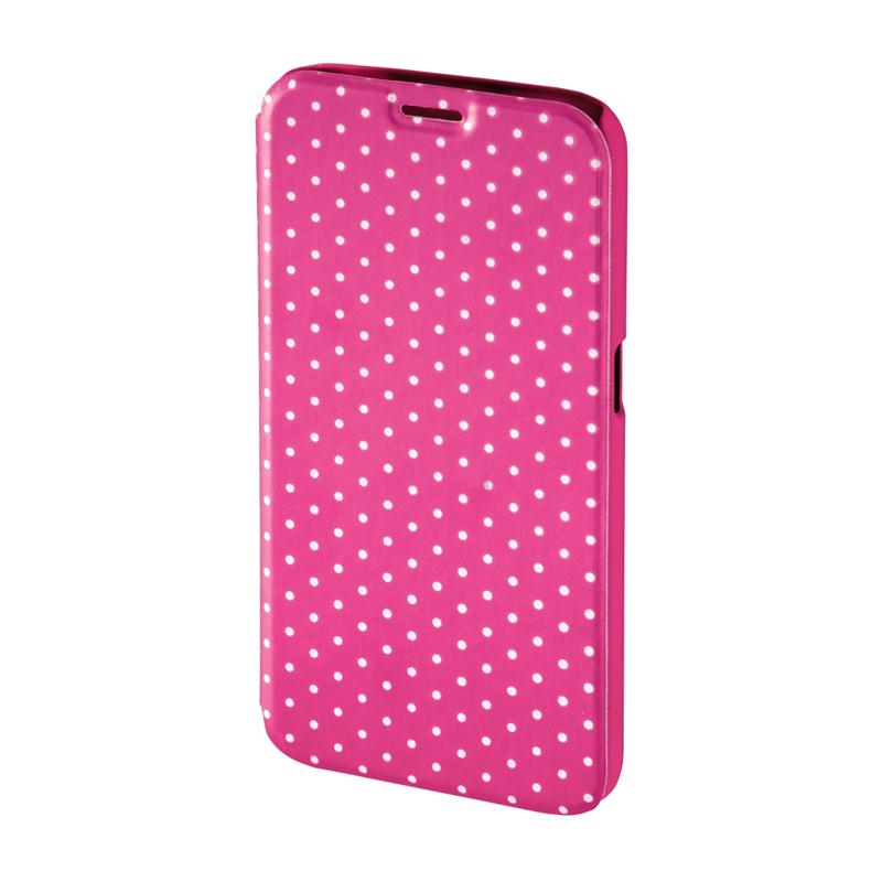 Husa Booklet Lumi Dots Samsung Galaxy S6 Hama, Roz/Alb