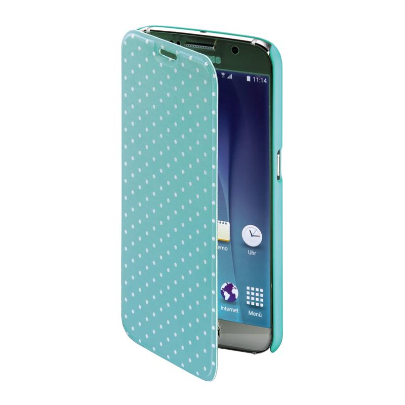 Husa Booklet Lumi Dots Samsung Galaxy S6 Hama, Verde/Alb