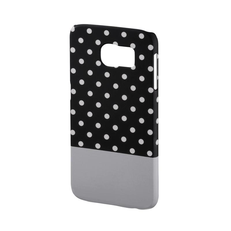 Carcasa Lovely Dots Samsung Galaxy S6 Hama, Negru/Alb 2021 shopu.ro