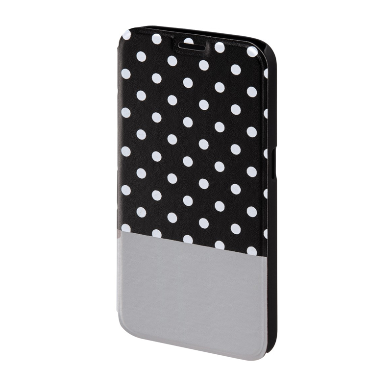 Husa Booklet Lovely Dots Samsung Galaxy S6, Negru/Alb