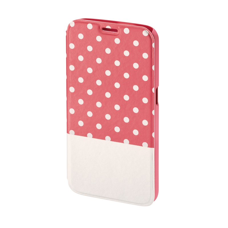Husa Booklet Lovely Dots Samsung Galaxy S6, Roz/Alb