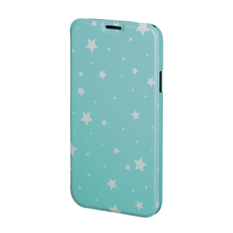 Husa Booklet Lumi Stars Samsung Galaxy S6, Verde/Alb 2021 shopu.ro