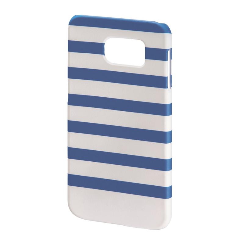 Carcasa Stripes Samsung Galaxy S6 Hama, Albastru/Alb