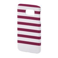 Carcasa Stripes Samsung Galaxy S6 Hama, Magenta/Alb