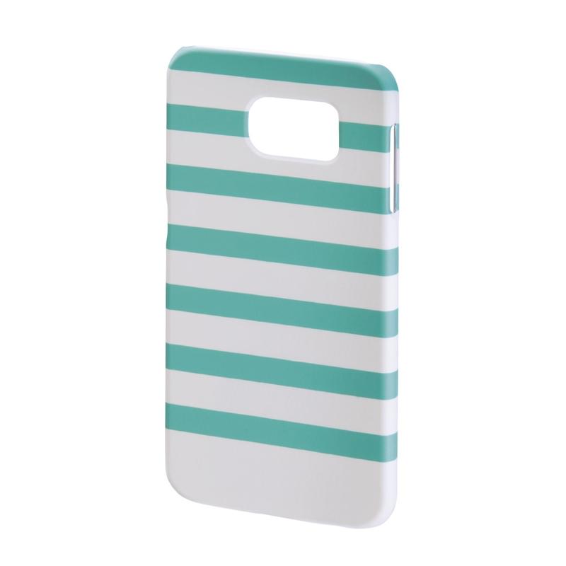 Carcasa Stripes Samsung Galaxy S6 Hama, Verde/Alb