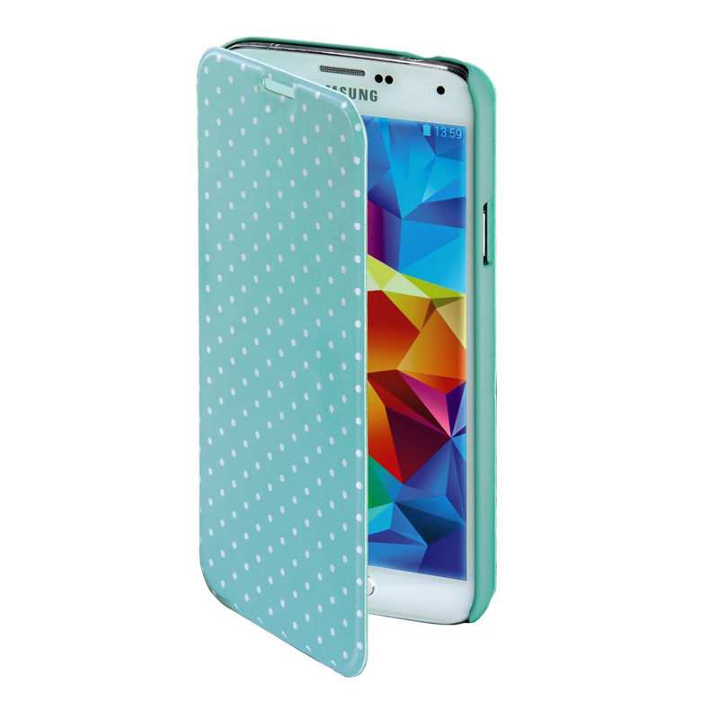 Husa Booklet Lumi Dots Samsung Galaxy S5 Hama, Verde/Alb