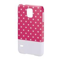 Carcasa Lovely Dots Samsung Galaxy S5 Hama, Roz/Alb