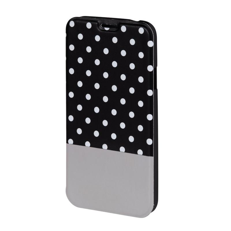 Husa Booklet Lovely Dots Samsung Galaxy S5 Hama, Negru/Alb 2021 shopu.ro