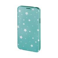 Husa Booklet Lumi Stars Samsung Galaxy S5, Verde/Alb