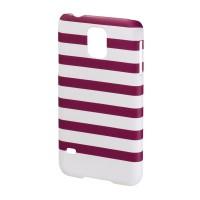 Carcasa Stripes Samsung Galaxy S5 Hama, Magenta/Alb