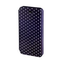 Husa Booklet Lumi Dots iPhone 5/5S, Negru/Alb