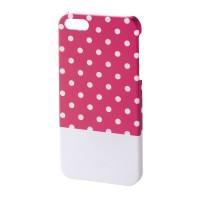 Carcasa Lovely Dots iPhone 5/5s Hama, Roz/Alb