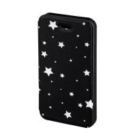Husa Booklet Lumi Stars iPhone 5/5s Hama, Negru/Alb