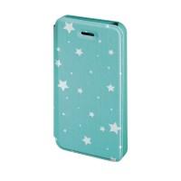 Husa Booklet Lumi Stars iPhone 5/5s Hama, Verde/Alb