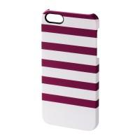 Carcasa Stripes iPhone 5/5s Hama, Magenta/Alb