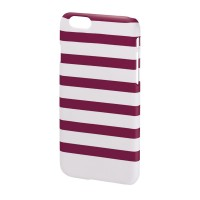 Carcasa Stripes iPhone 6 Hama, Magenta/Alb
