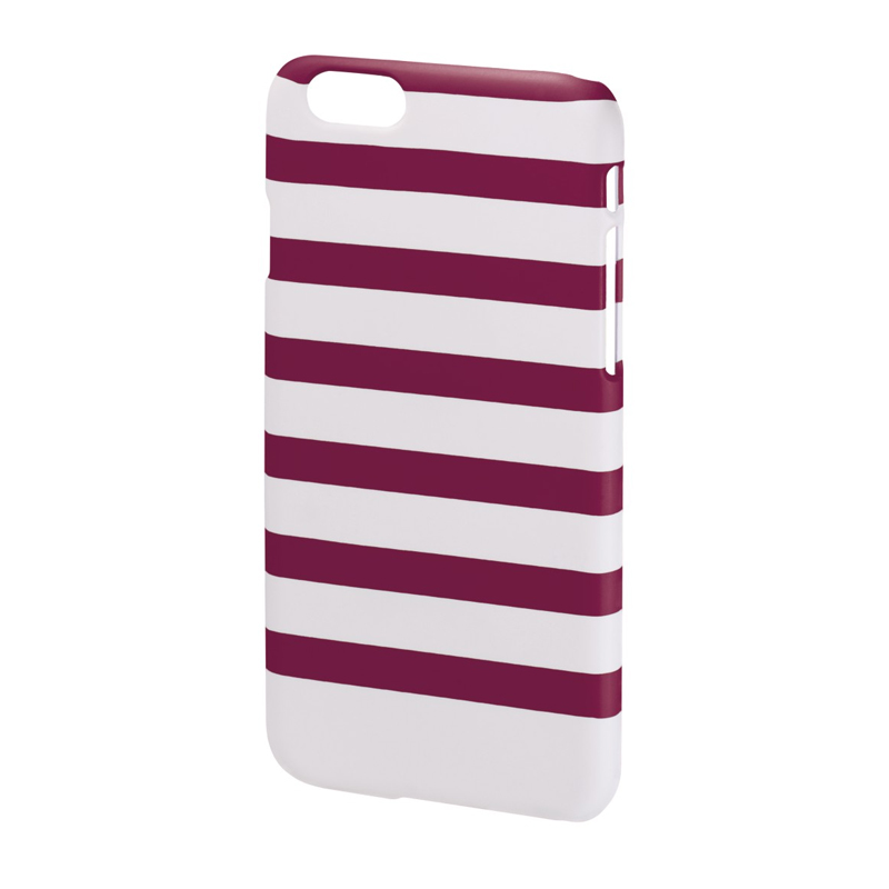 Carcasa Stripes iPhone 6 Hama, Magenta/Alb 2021 shopu.ro