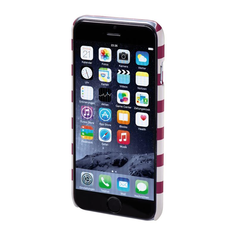 Carcasa Stripes iPhone 6 Hama, Magenta/Alb