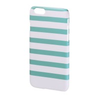 Carcasa Stripes iPhone 6 Hama, Verde/Alb