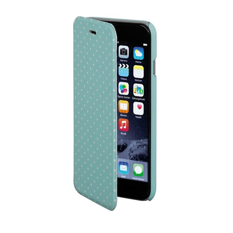 Husa Booklet Lumi Dots iPhone 6 Hama, Verde/Alb