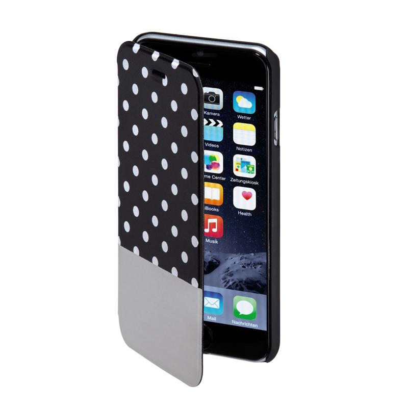 Husa Booklet Lovely Dots iPhone 6 Hama, Negru/Alb