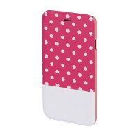 Husa Booklet Lovely Dots iPhone 6 Hama, Roz/Alb