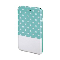 Husa Booklet Lovely Dots iPhone 6 Hama, Verde/Alb