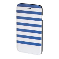 Husa Booklet Stripes iPhone 6 Hama, Albastru/Alb