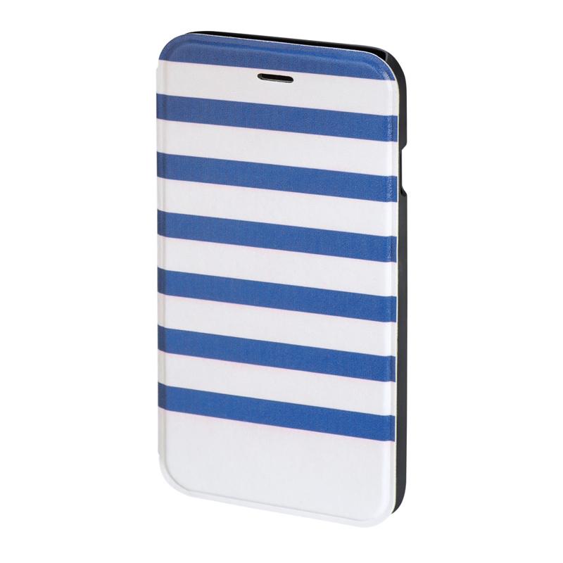 Husa Booklet Stripes iPhone 6 Hama, Albastru/Alb 2021 shopu.ro