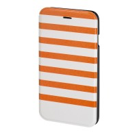 Husa Booklet Stripes iPhone 6 Hama, Portocaliu/Alb