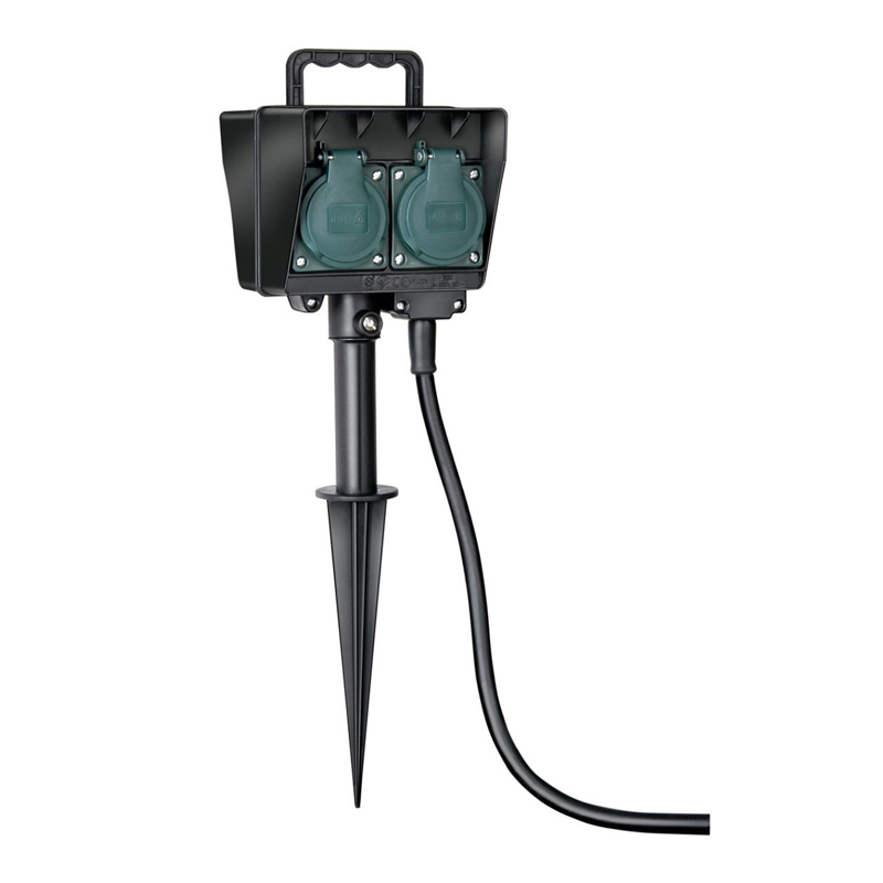 Prelungitor electric tija Brennenstuhl, 1.5 m, Negru