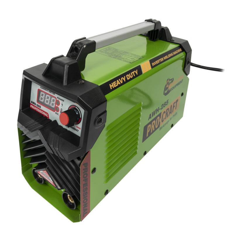 Aparat de sudura tip invertor Procraft AWH-285, 285 A, electrozi 1.6 - 5 mm, afisaj electronic, accesorii incluse shopu.ro