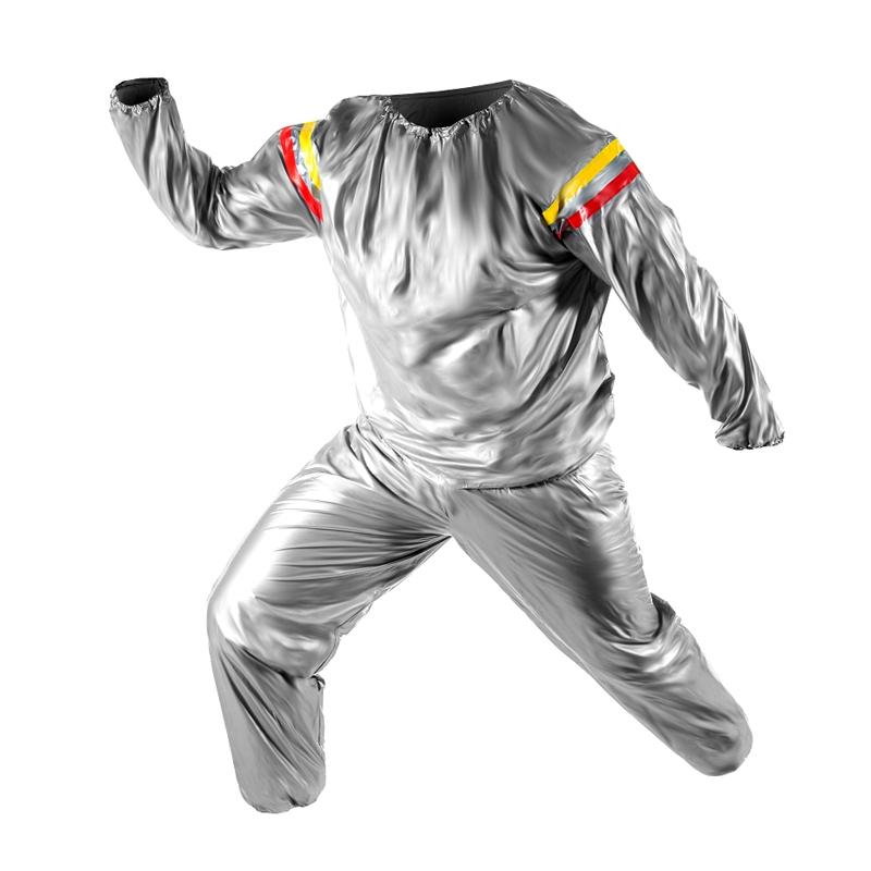 Costum pentru slabit tip sauna, marime universala, argintiu 2021 shopu.ro