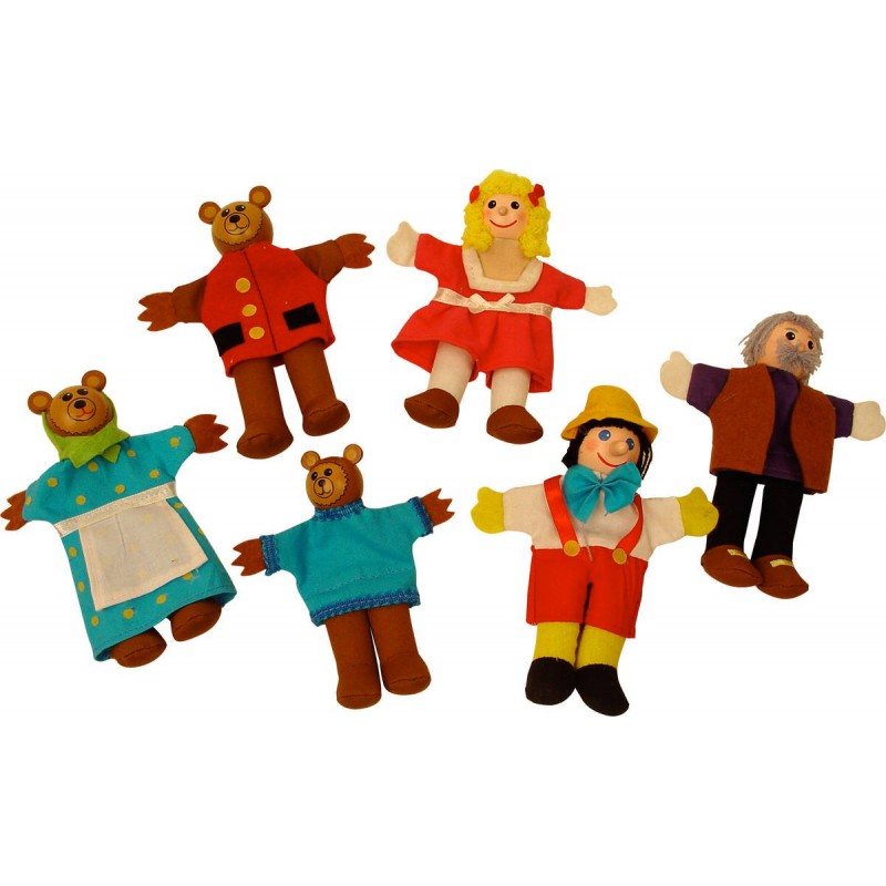Papusi degetar Pinochio si Povestea Cei trei ursuleti 2021 shopu.ro
