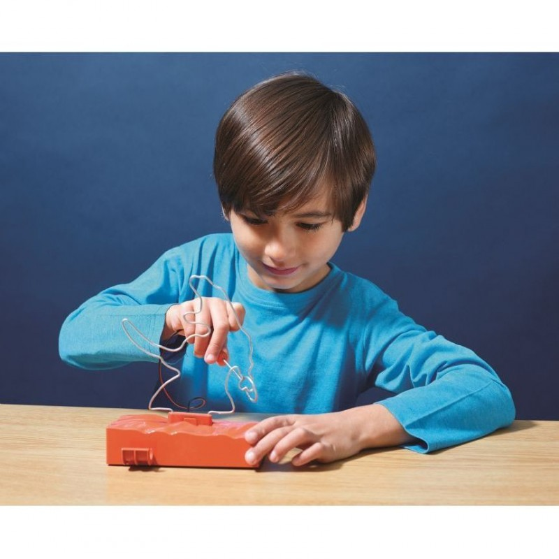 Jucarie 2 in 1 T Rex Buzz Wire Brainstorm Toys, 5 ani+, Multicolor