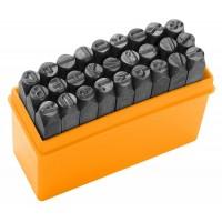 Set punctatoare litere Tolsen, 3 mm, 27 bucati