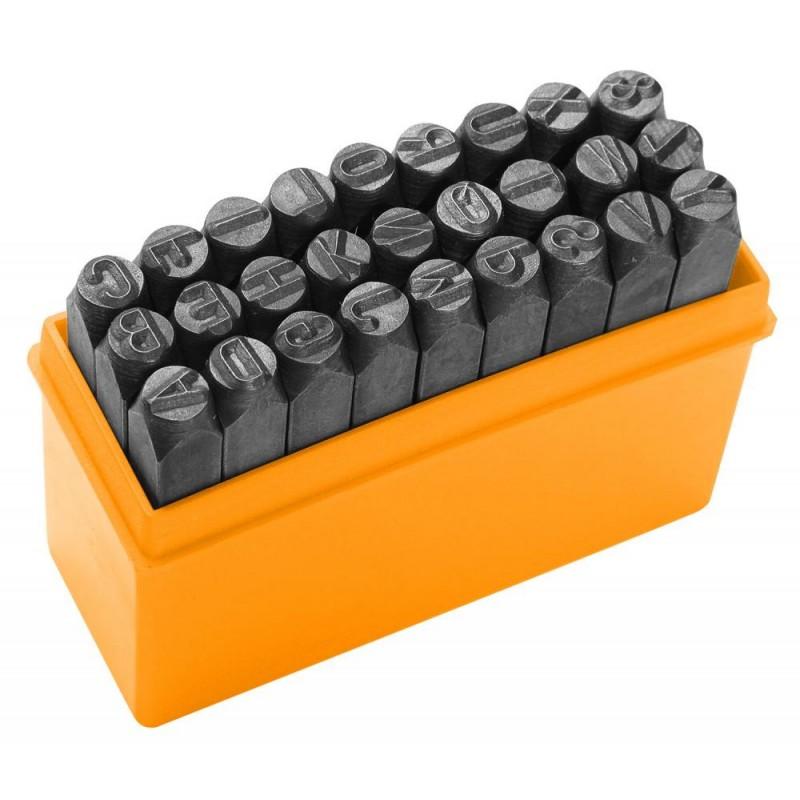 Set punctatoare litere Tolsen, 3 mm, 27 bucati shopu.ro