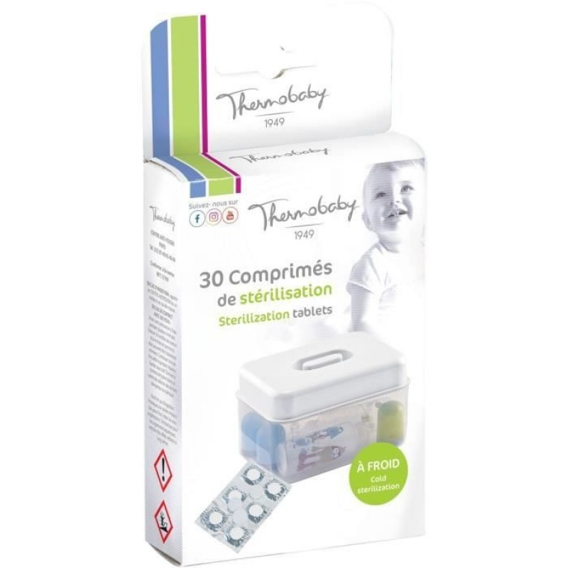 Set 30 tablete sterilizare la rece Thermobaby, 30 minute 2021 shopu.ro