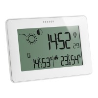 Statie meteo TFA, LCD, transmitator wireless, Alb