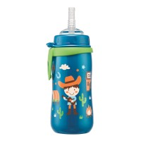 Cana Straw Cup Boy Nip, 330 ml, 12+ luni, pai flexibil
